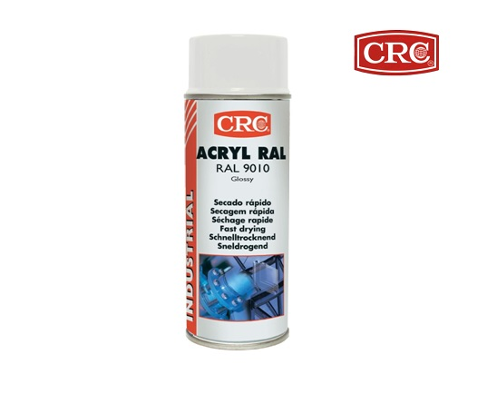 Acrylspray 400ml RAL 9010 Zuiver wit hoogglans CRC 31064