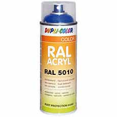 Acryl spray DUPLI-COLOR RAL 1021 koolzaadgeel glans 400ml Motip 07074