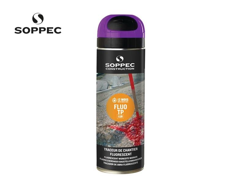 Bouwplaatsmarkeerspray Fluo TP lichtgevend roze 500ml