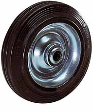 Loswiel massief rubber Ø 80mm