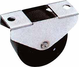 Bokwiel 25mm LG.G Stale behuizing kunststofwiel