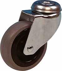 Zwenkwiel 50mm LGG2 Verzinkt rubberwiel