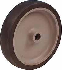 Rubber wielen met kunststof wielbody 50mm LG.G
