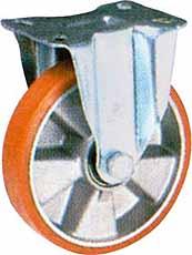 Bokwiel Ø 80mm LG.R verzinkte behuizing en aliminium velg