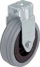 Bokwiel-Apparatenwiel Ø 50mm met boutgat bevestiging