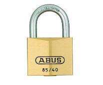 Hangslot 30 mm messing, 2 sleutels, boog, gehard ABUS 85/30
