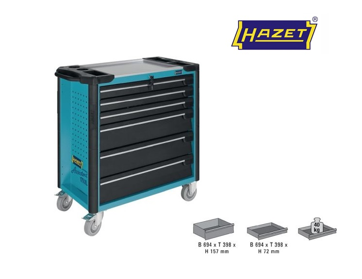 Hazet Gereedschapwagen 1025x980x503mm Assistent 6 laden 179XL-6