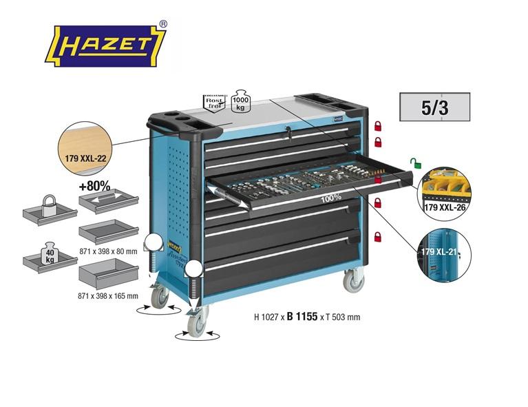 Hazet Gereedschapwagen 1027x1155x503mm Assistent 7 laden 179XXL-7