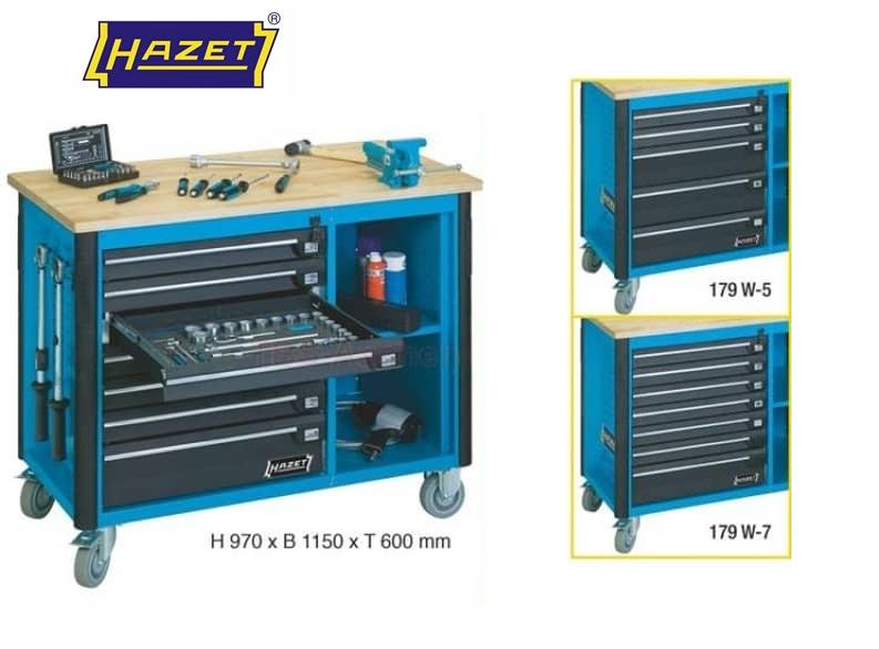 Hazet Werkbank 970x1150x600mm 5 laden 179W-5