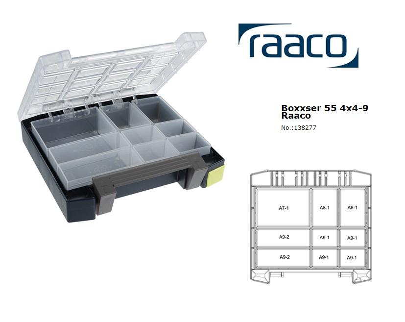 Raaco Boxxser 55 4X4-9 Assortimentsdoos 241x225x55mm