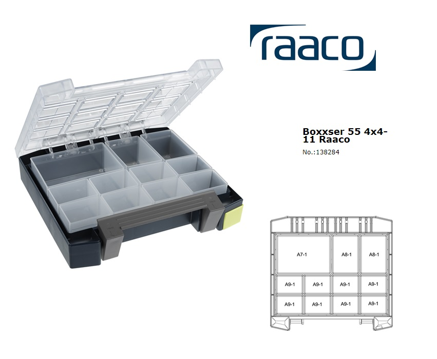 Raaco Boxxser 55 4x4-11 Assortimentsdoos 241x225x55mm