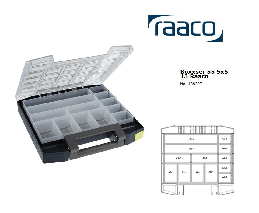 Raaco Boxxser 55 5x5-13 Assortimentsdoos 298x284x55mm