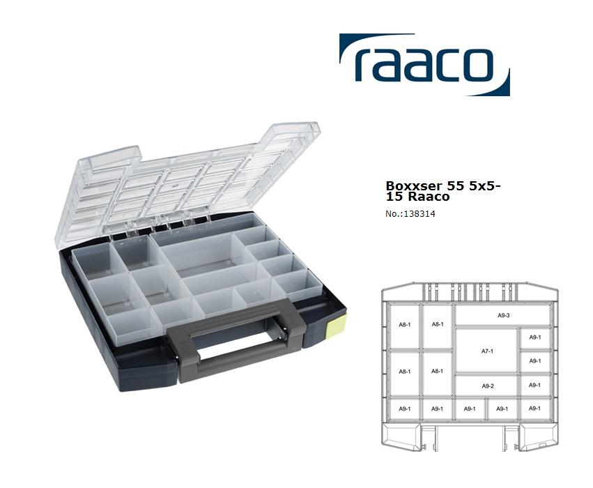 Raaco Boxxser 55 5x5-15 Assortimentsdoos 298x284x55mm