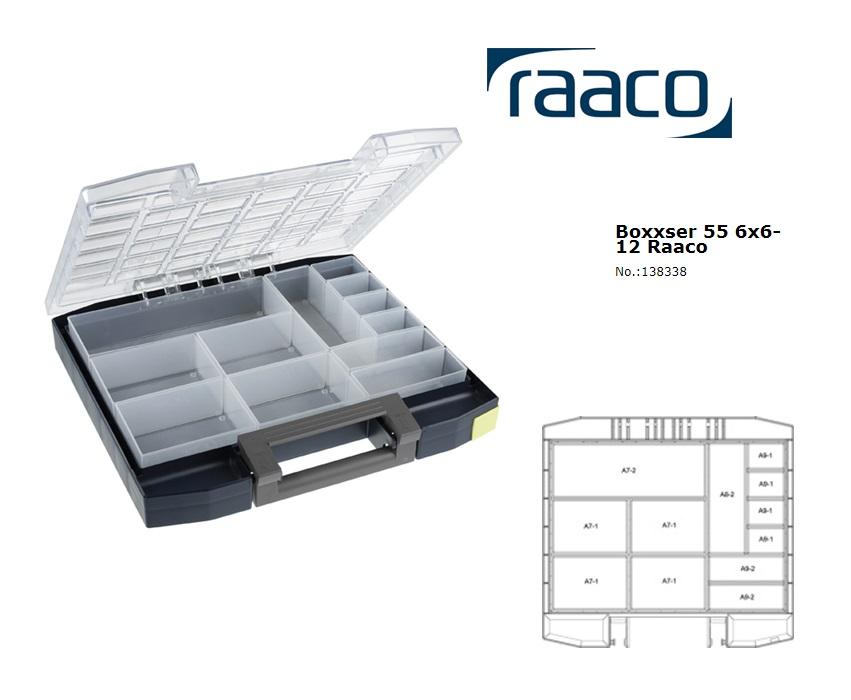 Raaco Boxxser 55 6x6-12 Assortimentsdoos 354x323x55mm