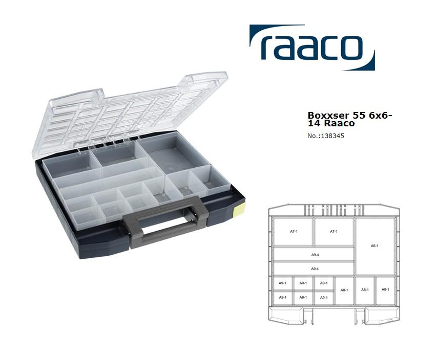 Raaco Boxxser 55 6x6-14 Assortimentsdoos 354x323x55mm