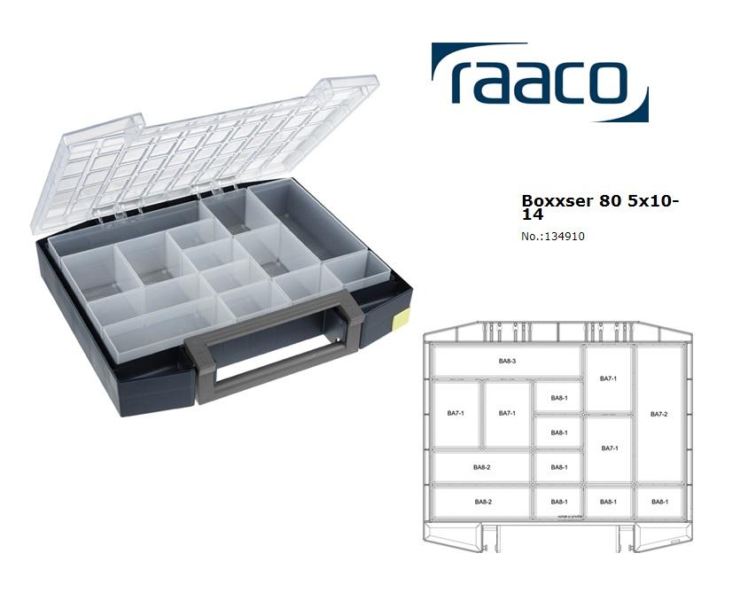 Raaco Boxxser 80 5x10-14 Assortimentsdoos 421x361x78mm