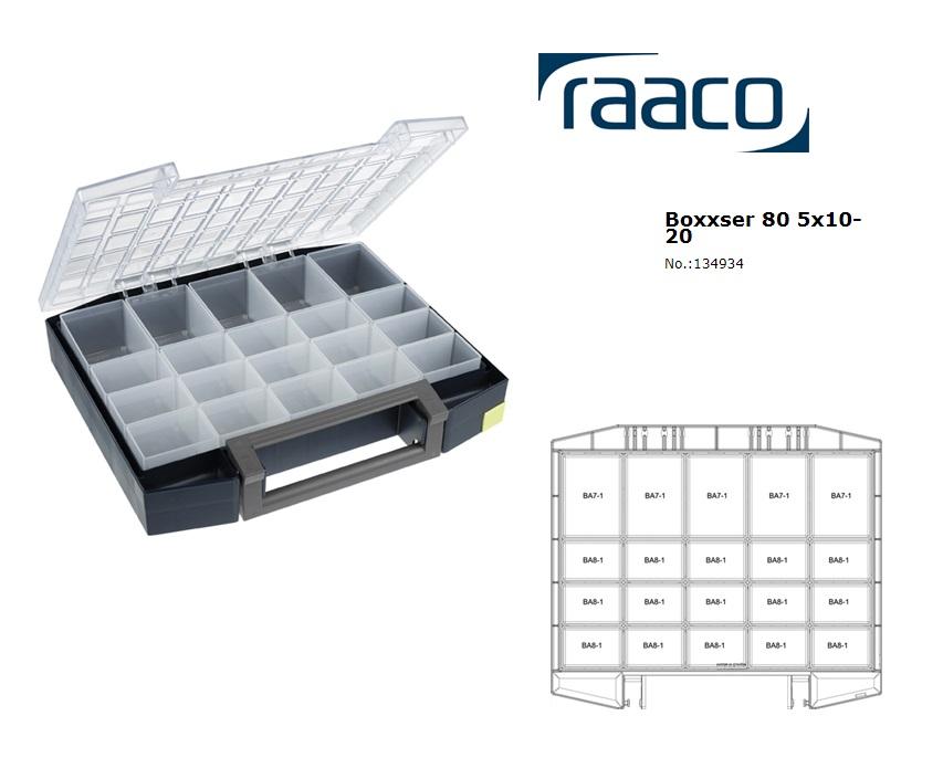 Raaco Boxxser 80 5x10-20 Assortimentsdoos 421x361x78mm