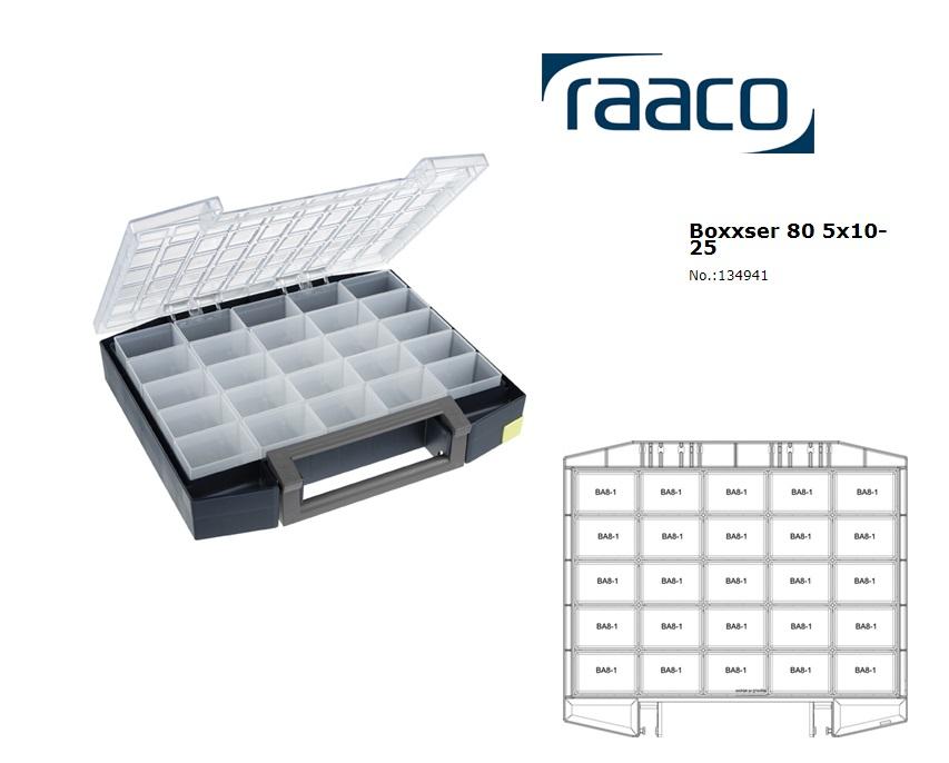 Raaco Boxxser 80 5x10-25 Assortimentsdoos 421x361x78mm