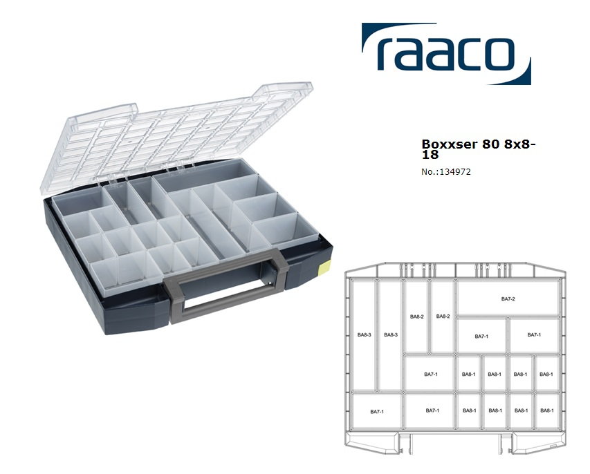 Raaco Boxxser 80 8x8-18 Assortimentsdoos 465x401x78mm