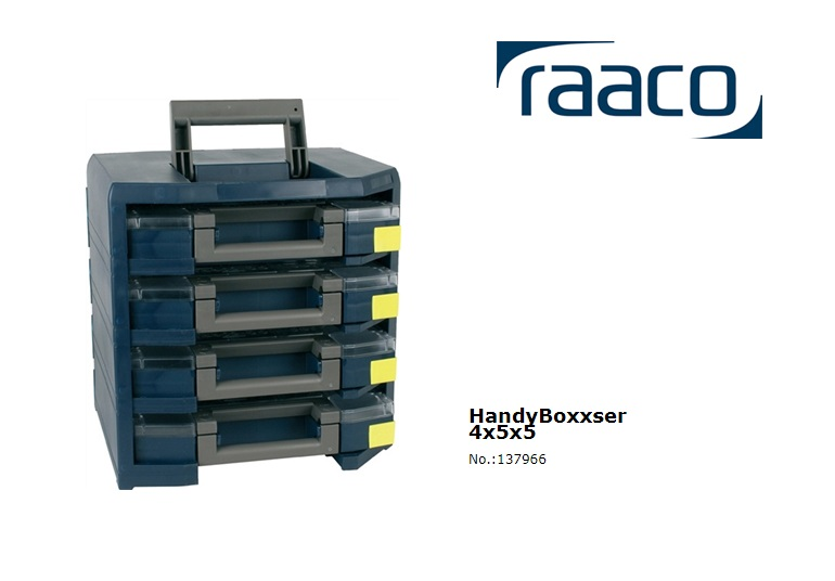 Raaco HandyBoxxser 55 4x5x5 342 x 347 x 305mm