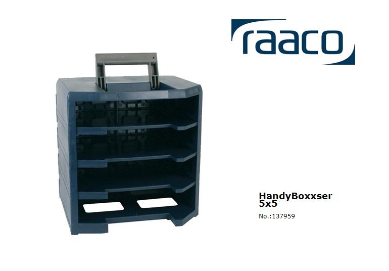 Raaco HandyBoxxser 55 5x5, empty 4x5x5 342 x 347 x 305mm