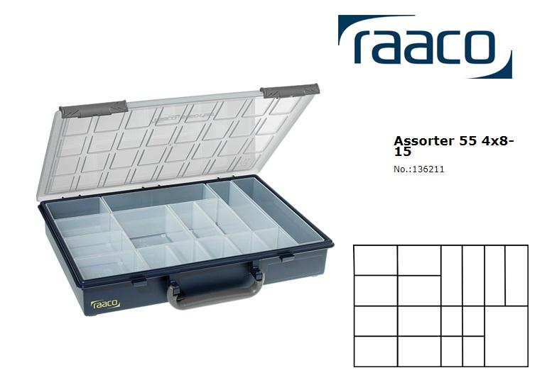 Raaco Assorter 55 4x8-15 Assortimentsdoos + 15 Inzetbakjes