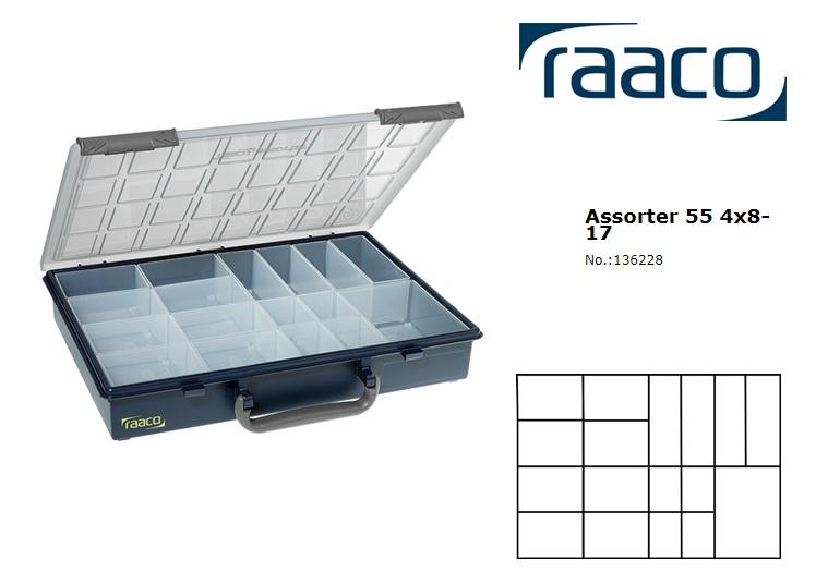 Raaco Assorter 55 4x8-17 Assortimentsdoos + 17 Inzetbakjes