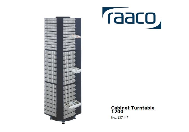 Raaco Carrousel leeg 1760mm hoog blauw 680x680x1760mm