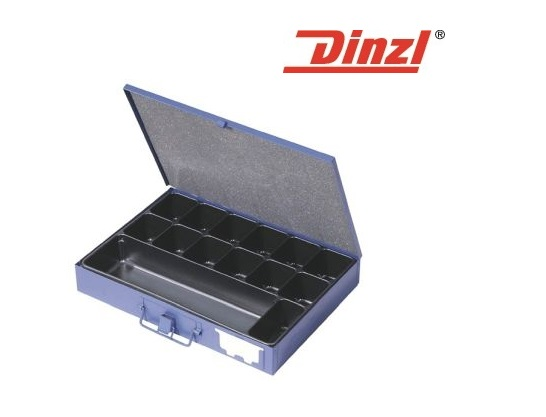 Assortimentskist 340x240x50mm 14 vakken plaatstaal DINZEL
