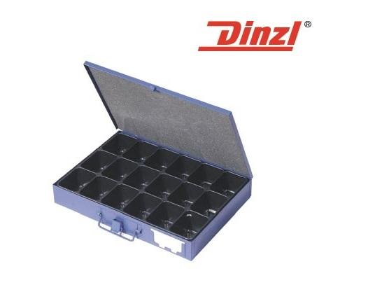 Assortimentskist 340x240x50mm 18 vakken plaatstaal DINZEL