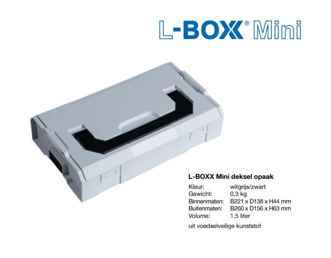 L-BOXX Mini deksel opaak 237,6x149,4x43mm
