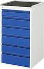 Schuifladenkast 580 x 650 x 1035 A3-L7.6-MT Metalen Top