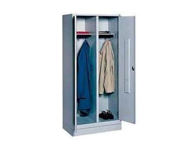Garderobekast S 2000 Classic met ineensluitende deuren RAL 7035 300mm met voeten CP