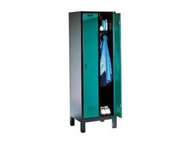 Garderobekast S 3000 Evolo 2 deurs met voeten RAL 7035/5012 CP