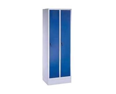 Garderobekast S 3000 Evolo 2 deurs met sokkel RAL 7035/5012 CP
