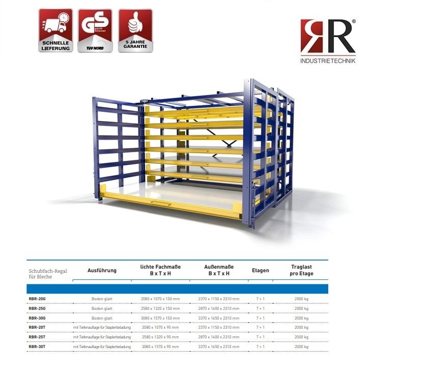 Schubfachregal für Bleche Typ RBR-20G