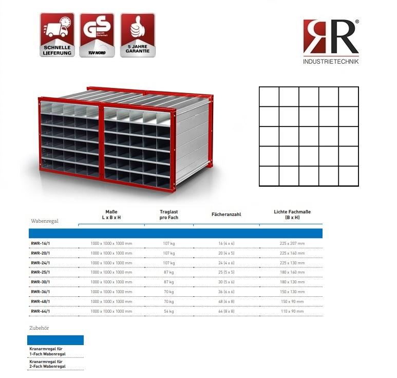 Insteekstelling RWR-25/1 RAL 3000