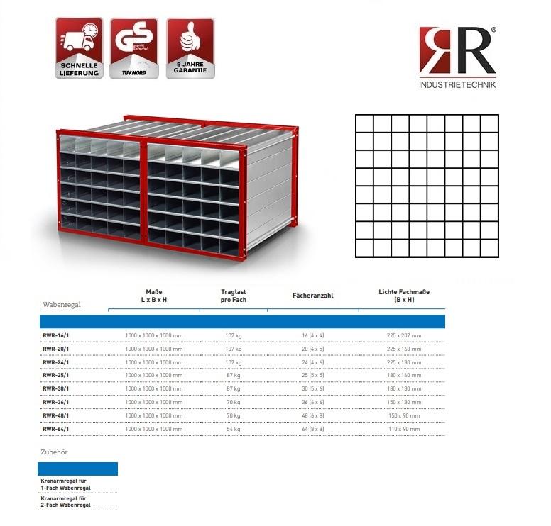 Insteekstelling RWR-64/1 RAL 3000