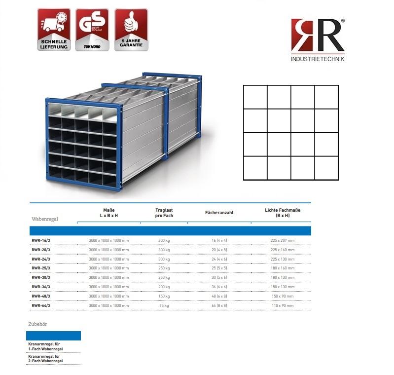 Insteekstelling RWR-16/3 RAL 5010