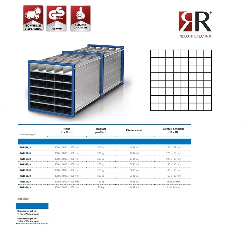 Insteekstelling RWR-64/3 RAL 5010