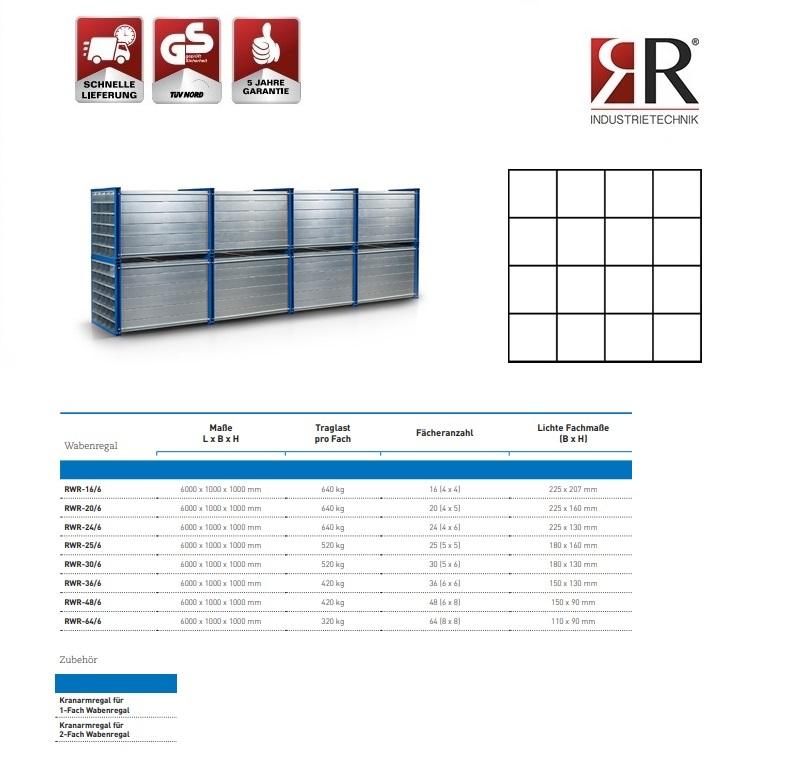 Insteekstelling RWR-16/6 RAL 5010