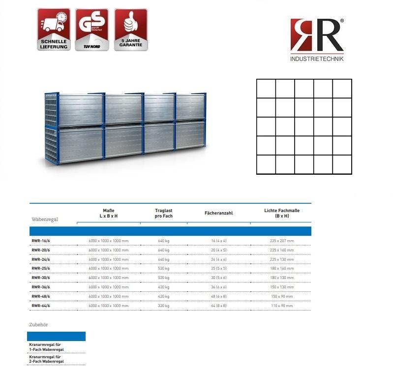 Insteekstelling RWR-25/6 RAL 5010