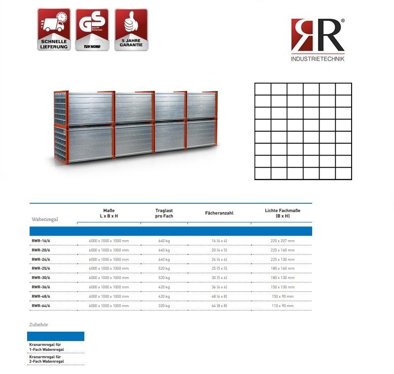 Insteekstelling RWR-48/6 RAL 2004