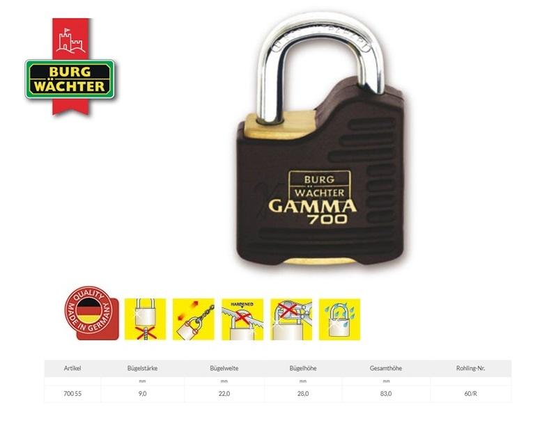 Cilinderhangslot Gamma 700 55