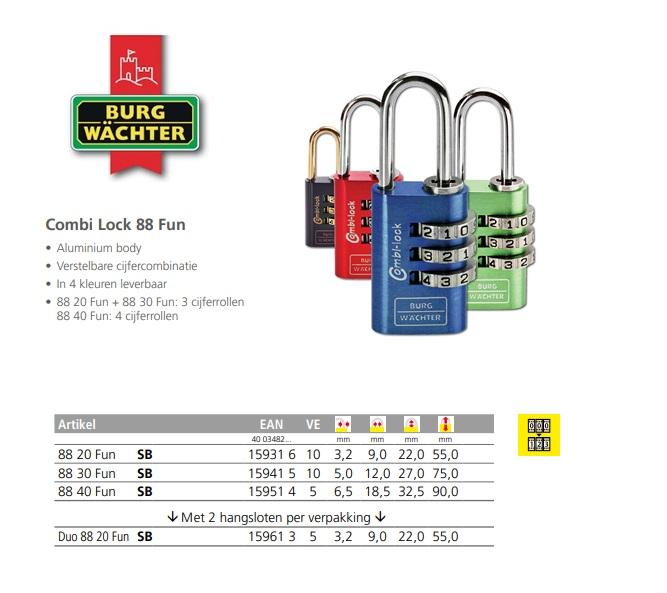 Combi Lock 88 Fun 20 F SB