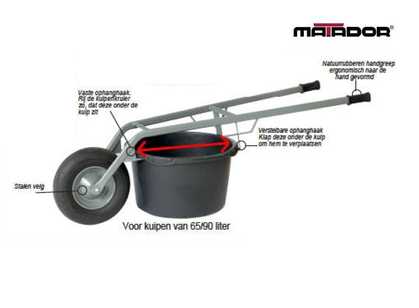 Kuipenkruier voor speciekuip 65/90 liter Matador 10970