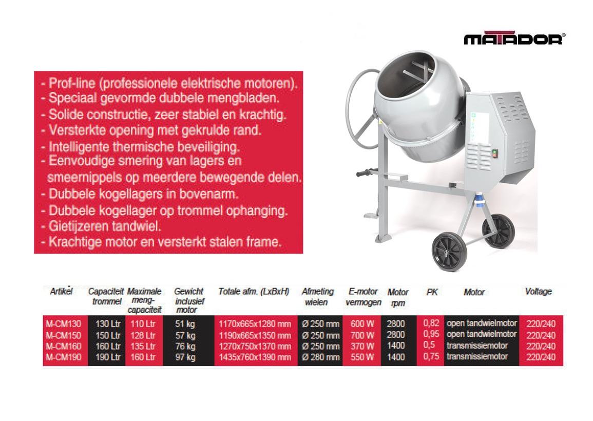Betonmolen CM150 150 liter Matador 13480