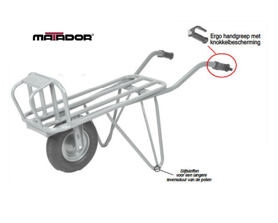 Steenkruiwagen M-230-CT-Unipro lekvrij wiel Matador 13554