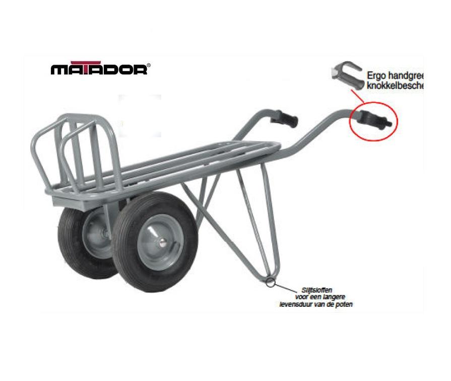 Steenkruiwagen M-230-L4-2WI-Unipro luchtbanden Matador 13555