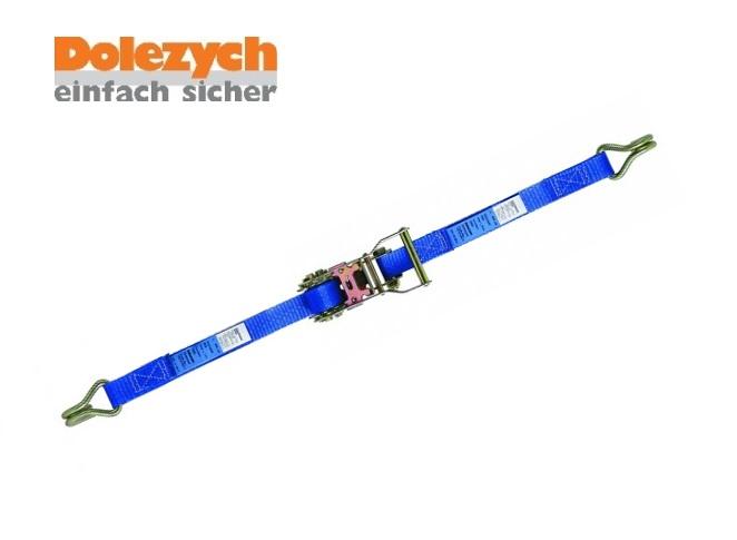 Spanband polyester 2-dlg met profielhaak 4m B.25mm 1000daN Din 12195-2